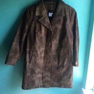 Via accenti  leather jacket size 24W